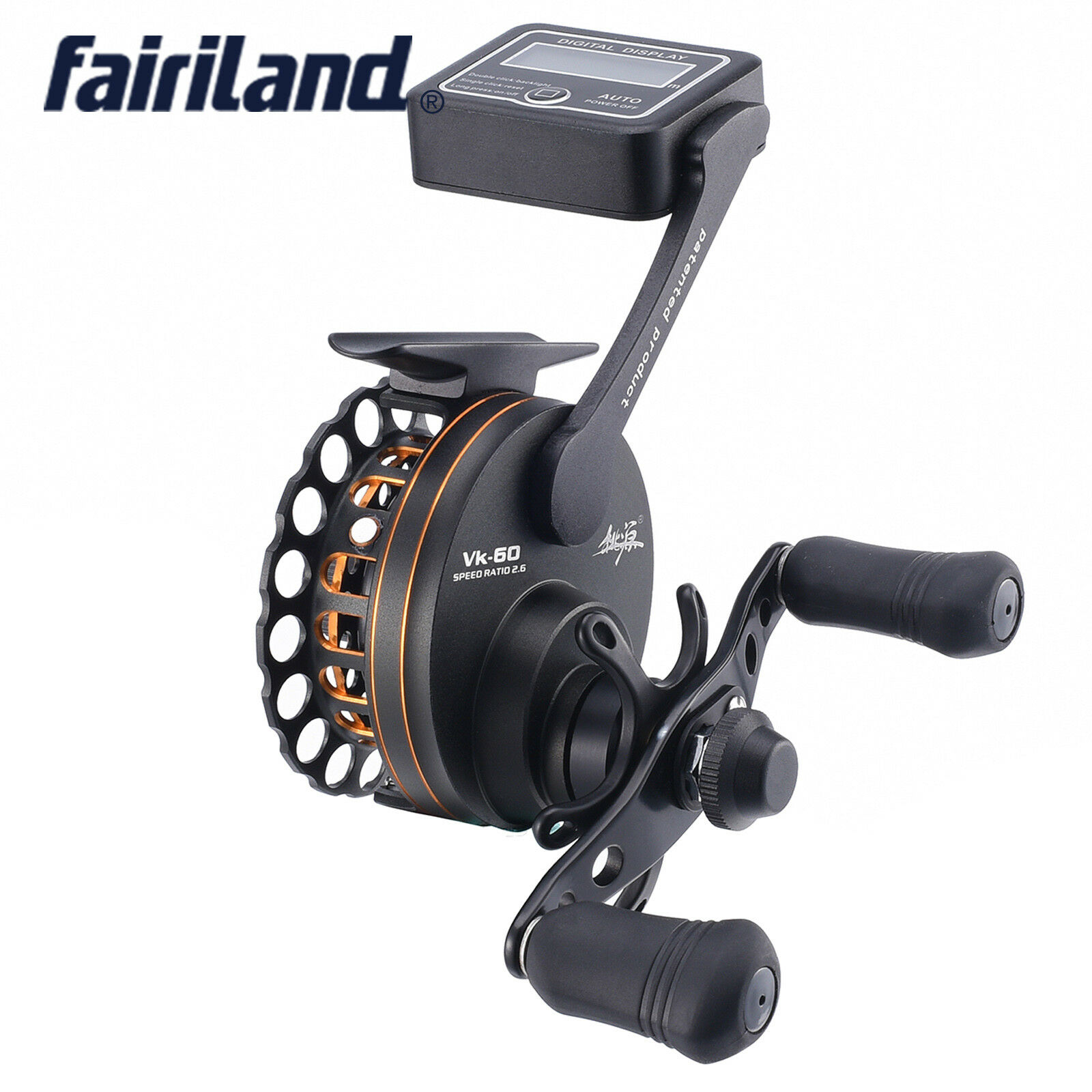 6BB 2.6  1 full metal L R hand with line counter raft fishing reel fly ice reel  great selection & quick delivery