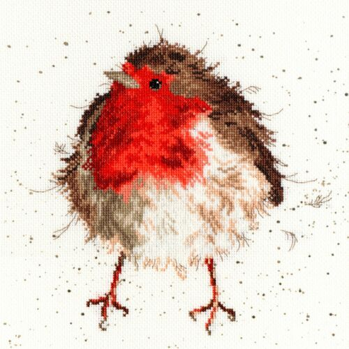 NEW XHD5 BOTHY THREADS JOLLY ROBIN COUNTED CROSS STITCH KIT