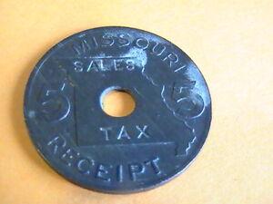 Vintage Missouri Sales Tax Receipt Token