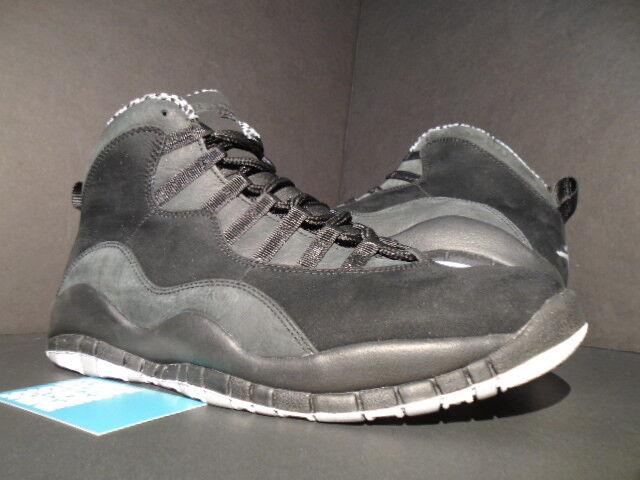 2012 Nike Air Jordan X 10 GREY Retro BLACK Weiß STEALTH GREY 10 SHADOW 310805-003 4072d2