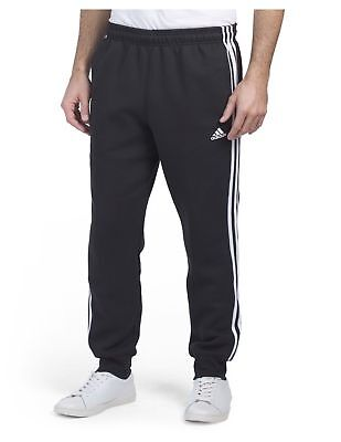 Adidas Essentials 3 Stripe Tricot Pants Gray Black NWT