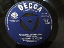 CLASSIC 1959 . THE BEVERLEY SISTERS . STRAWBERRY FAIR / THE LITTLE DRUMMER BOY