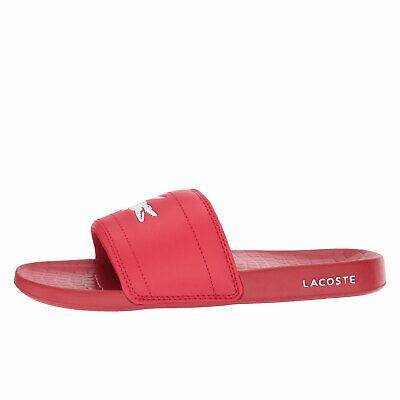 Lacoste Fraisier 118 1 U Red White Men/'s Slide Sandals 35CAM014517K