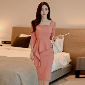 3e637af9a343 Caricamento dell immagine in corso vestito-corto-abito-tubino-elegante-rosa- cipria-slim-