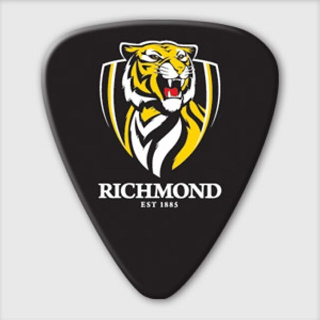 Richmond Tigers Guitar Picks 5 Pack, Official AFL Product