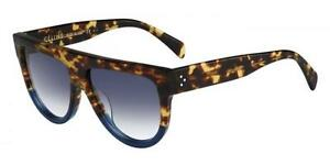 a6204bbbf6d2 HOT NEW Genuine CELINE Shadow Ladies Tortoise Blue Sunglasses CL ...