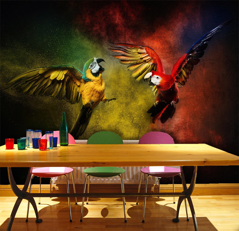 3D Flying Parrots 85 WallPaper Murals Wall Print Decal Wall Deco AJ WALLPAPER