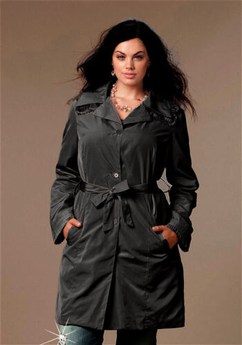 NEU!! Plissee-Applikation Trenchcoat YLYF SHEEGO KP 89,99 € /%SALE/% Anthrazit