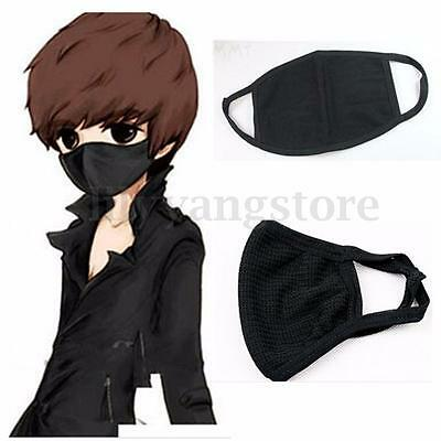 Buy 2 get 1 Free! Unisex Black Face Anti-Dust Reusable Cotton Mask Mouth Muffle