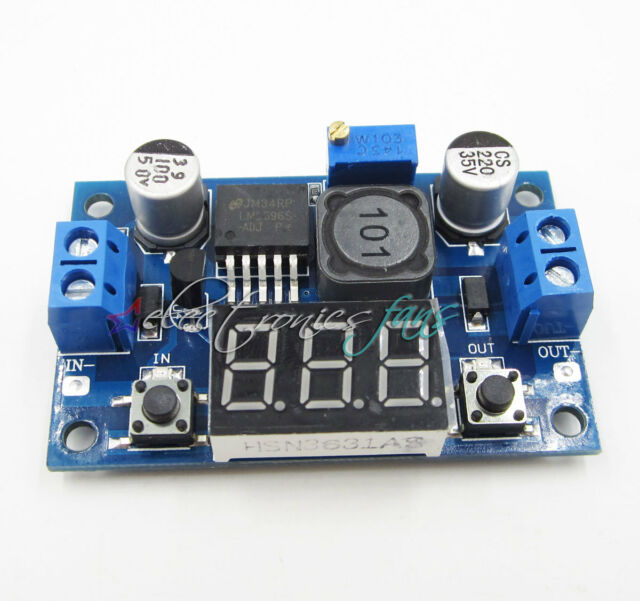 DC-DC Buck Step Down Converter Module LM2596 Voltage Regulator+Led Voltmeter
