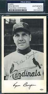 Ken-Boyer-Psa-Dna-Coa-Autograph-Cardinals-Team-Photo-Hand-Signed-Authentic