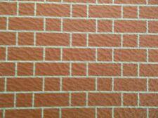 DOLLS HOUSE EMBOSSED  RED BRICK  WALLPAPER