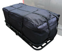 (both) 48 Hitch Mount Cargo Carrier Rack With 46 Cargo Bag -500lb Capacity