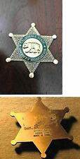 California State Sheriff's Association, antique police badge