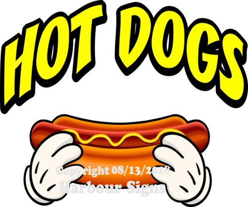 Hot Dogs DECAL Choose Your Size /& Color Concession Food Truck Sticker M