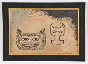 Lev-Kropivnitsky-Artwork-Russian-Expressionist-Original-Signed-Oil-Painting-Rare
