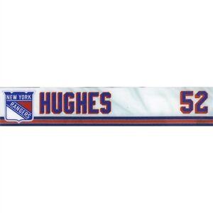 6d93bdeb748 TOMMY HUGHES HARTFORD WOLFPACK GAME USED NY RANGERS LOCKER ROOM NAME ...