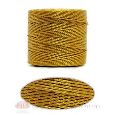 Marigold Yellow 77 Yds. Super-Lon #18 Beading Crafting Stringing Crochet Cord