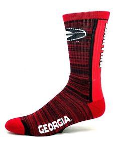 Georgia-Bulldogs-NCAA-For-Bare-Feet-Bar-Stripe-Vert-Crew-Socks