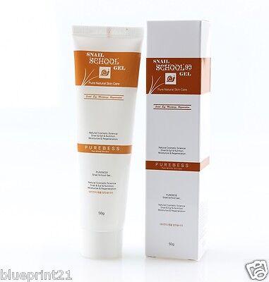 (1+1) Purebess School Gel Snail Cream 50g * 2 ea Brand New Free Shipping