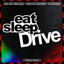17 Colours Eat Sleep Drive Car Decal Bumper Sticker Novelty Euro JDM Drift