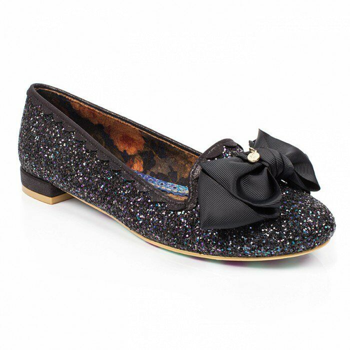 Irregular Choice SULU  Womans Black Sparkling Flats NEW IN   94.99