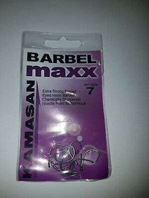kamasan barbel max extra strong micro barbed hooks size 7