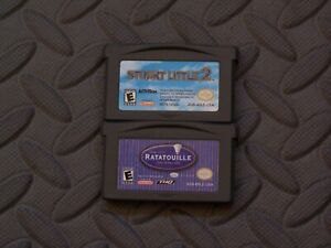 Lot Nintendo Game Boy Advance GBA Games Stuart Little 2 + Ratatouille