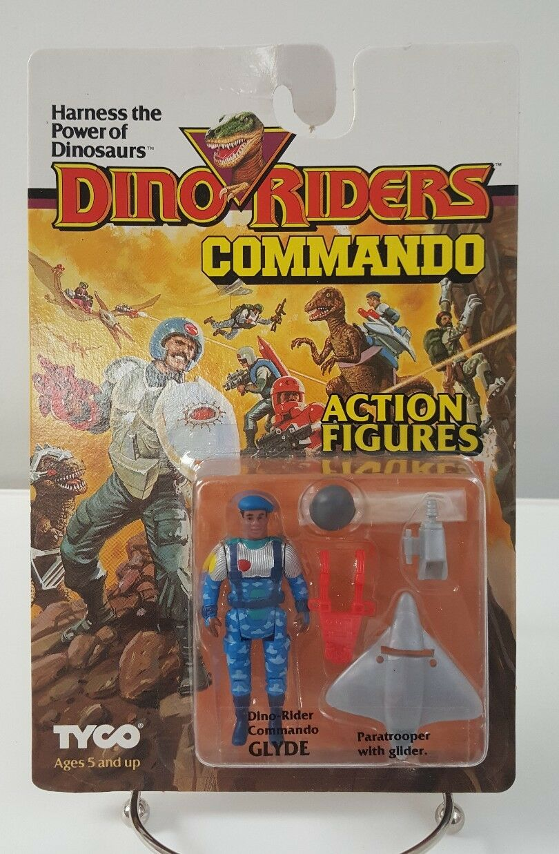 Dino Riders Commando Glyde Action Figures 1987 TYCO Comme neuf on Card