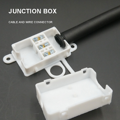 Plastic Waterproof  3 Pin IP44 250V AC 10A Junction Box Terminals Wire Connector