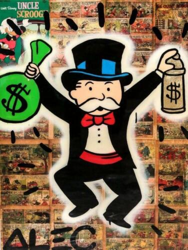 Alec Monopolyingly Art Street Graffiti Mimo Canvas Painting Poster Wall Picture