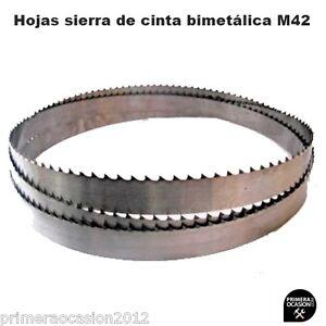 3 x SBM M42 HSS hojas de sierra de cinta bimet/álicas 1435 x 13 x 0,65 mm con 10//14 DPP