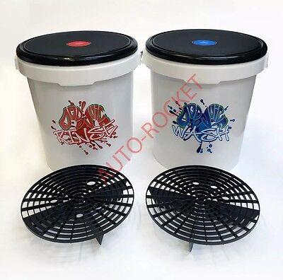 Dodo Juice Car Wash & Rinse Buckets, 20 Litre, Inc's Grit Guard Barriers & Seats