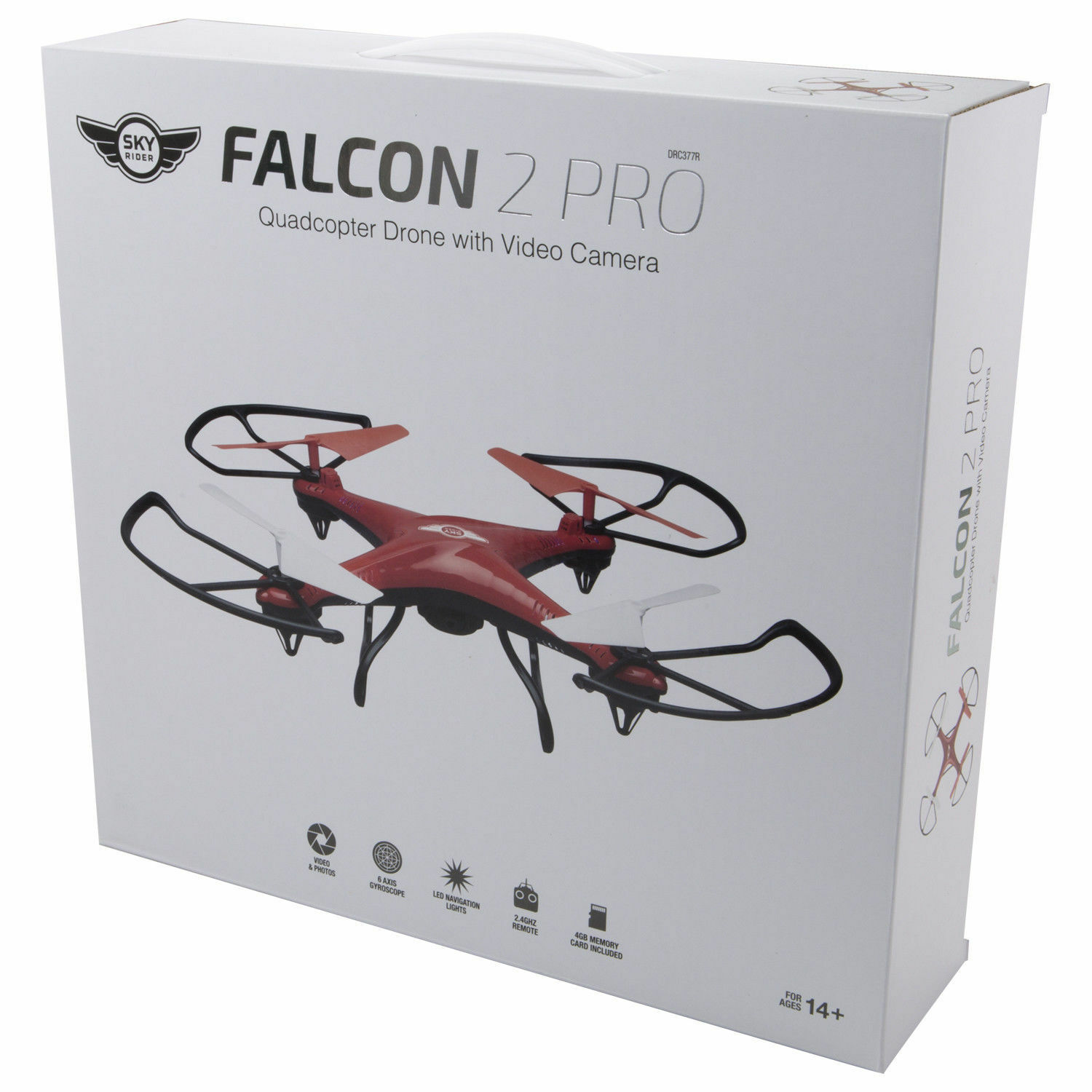 SET OF 2 Sky Rider Falcon 2 Pro Quadcopter Drone with Video Camera NEW