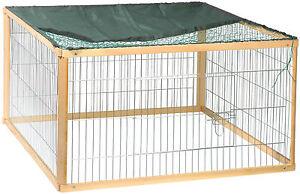 freilaufgehege holz metall kaninchen gehege freigehege kleintiergehege nager xl. Black Bedroom Furniture Sets. Home Design Ideas