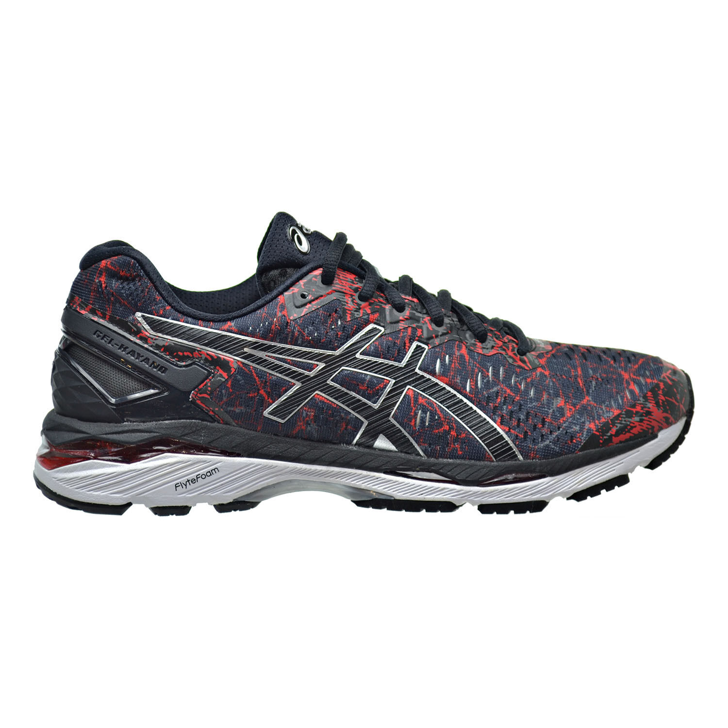 Asics Gel Kayano 23 Mens Shoes Vermilion/Black/Silver t6a0n-2390