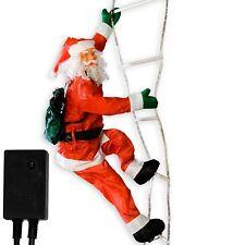 Weihnachtsmann / Nikolaus auf Leiter Leuchtleiter 240cm Deko x-mas Weihnachten
