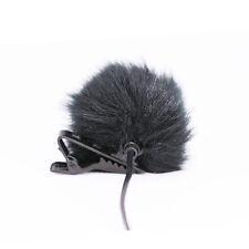 Schwarz Fell Windschutzscheibe Wind Muff für Revers Lavalier Mikrofon MicYEG