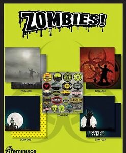 """REMINISCE """"ZOMBIES"""" 12X12 PAPER COLLECTION (9PCS) HALLOWEEN SCRAPJACK'S PLACE"""