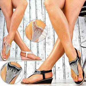 NUOVO-donna-scarpe-Plateau-Zeppe-Sandali-Cinturino-Zeppa-Peep-Toes-GLITTER