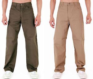 Mens-chinos-Classic-Fit-Chino-Pantalones-Beige-amp-Caqui-LIQUIDACIoN