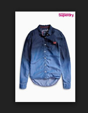 Superdry Dip Dye Denim Shirt  UK Size - Small