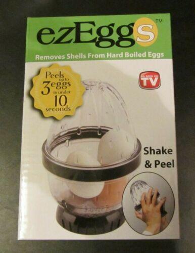 Removes Shells from Hard Boiled Eggs NEW EZEggs As Seen on TV Shake /& Peel