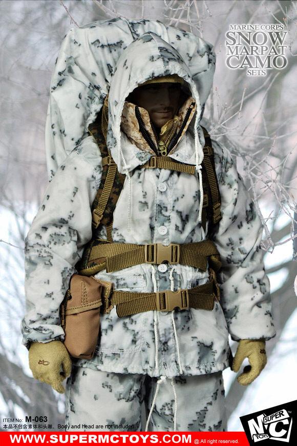Super MC Toys 1 6 Marine Corps Snow Marpat Camo Accessory Set M-063