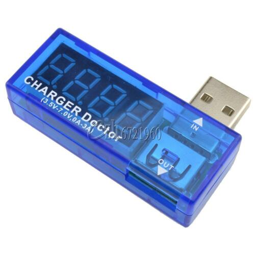 Chargeur USB médecin Voltmètre Ampèremètre Amp Testeur de tension détecteur HOT SELL