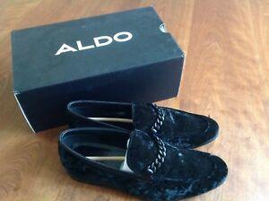 2afacb9416a Image is loading Aldo-Men-039-s-Black-Suede-Royton-Loafer-
