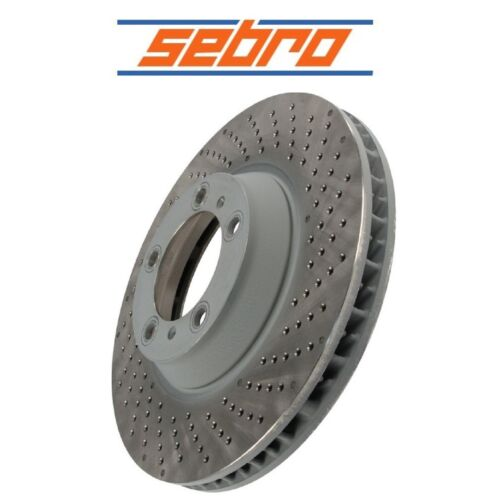 For Porsche 911 GT3 Front Passenger Right Vented Drilled Disc Brake Rotor Sebro