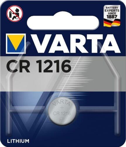 3 x Varta CR 1216 CR1216 3V Lithium Batterie Knopfzelle 27mAh Blister 6216