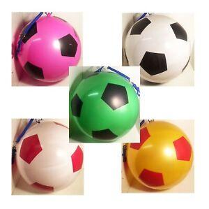 PVC-Football-Ball-On-Spring-Keychain-Kids-Outdoor-Garden-Game-Pocket-Money-Toy