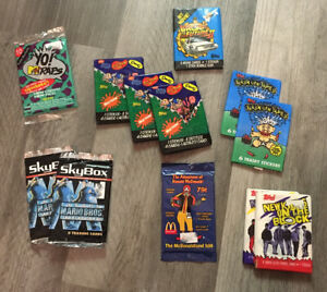 VTG-80s-90s-Trading-Cards-LOT-12-PC-DEAD-STOCK-NOS-COLLECTIBLE-VARIETY-RARE